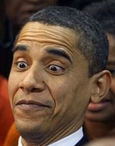 Even Øbama can't keep a straight face when talking about his budget.
